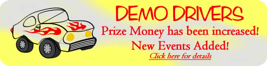 Demo Drivers: Prize Money has been increased! New Events Added! Click here for details