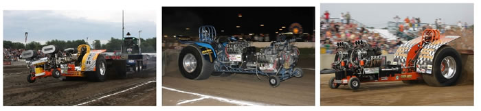 Truck and Tractor Pull 2 Wheel Drive Trucks Modified and Super Stock