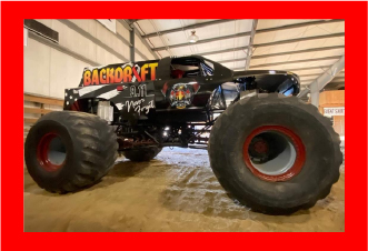 Monster Trucks! Aftershock - Krazytrain - Backdraft  - Instigator